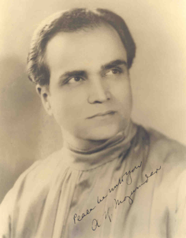 A.K. Mozumdar in 1934